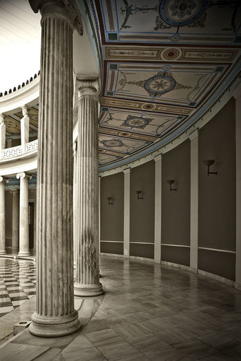 Architectural Column Architecture Art Athens Capitals  Column Frescos Geometry Greece Historic History Indoors  Neoclassical Old Symmetry Vertical Symmetry Zappeion