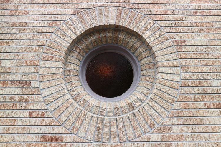Circle Shaped Window Of Waseda Auditorium