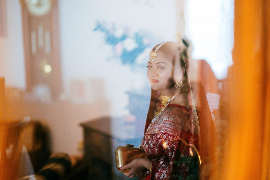 Wedding Beautiful Woman Celebration Close-up Day Focus On Foreground Headshot Indoors  Leisure Activity Lifestyles One Person People Real People Standing Traditional Clothing Young Adult Young Women