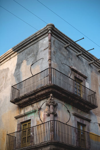 Architecture Architecture Architecture_collection Blue Building Building Exterior Built Structure Cable City Composition Day Exterior Façade Low Angle View No People Outdoors Power Line  Real De Catorce Residential Building San Luis Potosí Sky Symmetry Travel Travel Photography Village