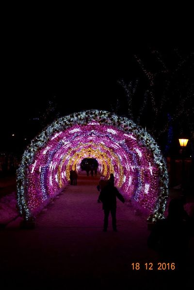 Illuminated Walking Full Length City Night People Tunnel One Person Indoors  Adults Only Adult