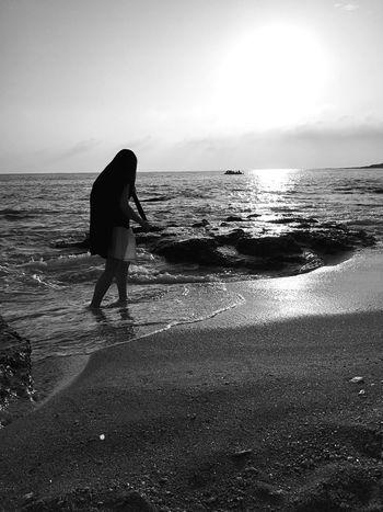 Being A Beach Bum Sunshine Relaxing Enjoying The Sun On A Holiday Monochrome Blackandwhite