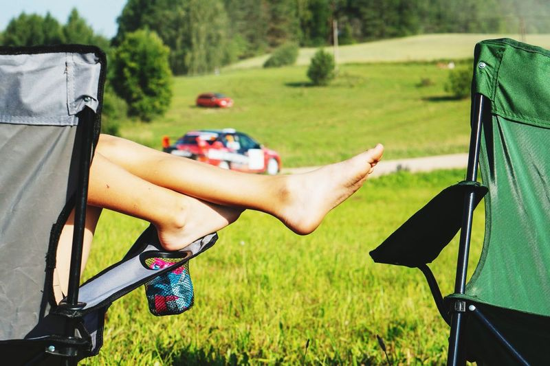 rally feeling Rally Rally Car Noface Rallyestonia2018 Relaxing Summer Summer Road Tripping Relaxation Sport Grass Sky Green Color Human Leg Human Foot Grass Area Legs Crossed At Ankle Summer Sports My Best Photo