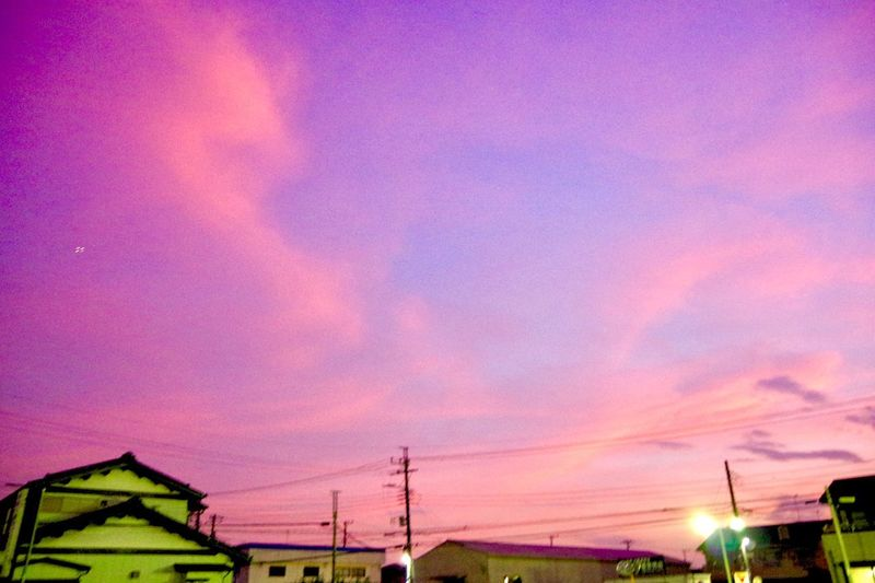 Pentax K-3 夕暮れ時 夕焼け空 Sky Sunset Architecture Cloud - Sky Built Structure Pink Color Nature