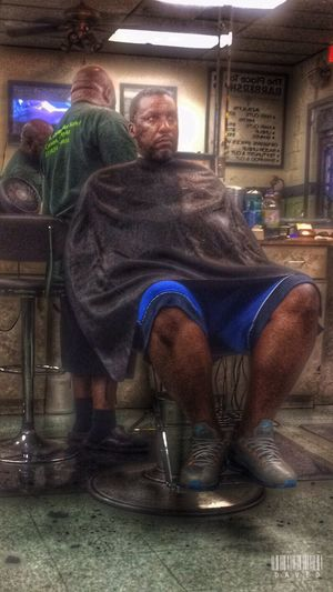 Late evening cut Haircut Getting Fresh Barbershop People Peoplephotography People Photography HDR Hdr_Collection