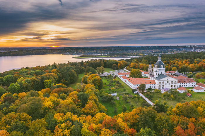 Monastery, autumn season Mavic 2 Mavic 2 Pro Aerial View Aerial Drone  Drone Photography Europe Autumn Fall Monastery Auumn Color Architecture Built Structure Building Exterior Plant Tree Sky Nature Cloud - Sky Building Water Beauty In Nature Scenics - Nature Sunset High Angle View Place Of Worship No People Residential District Religion Travel Destinations Outdoors Change