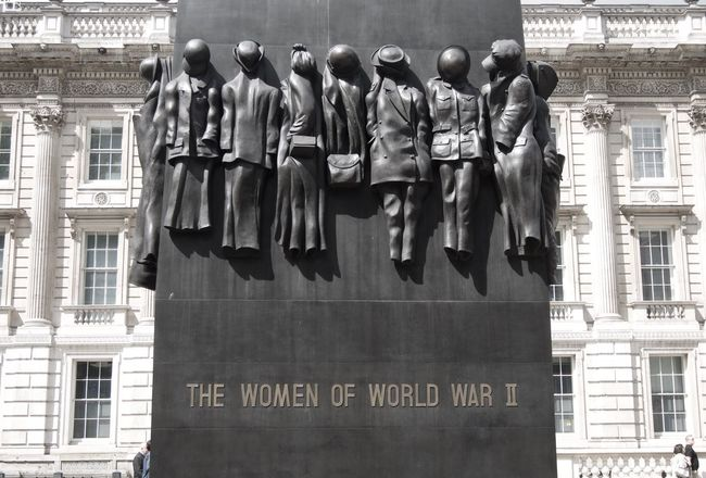 Press For Progress Women Of World War II Memorial, Whitehall