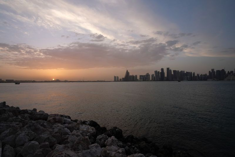 Doha qatar skyline Qatarlife Doha Water Sky Sunset Sea Architecture Cloud - Sky Building Exterior Nature Beauty In Nature Built Structure Urban Skyline City Scenics - Nature Reflection Tranquility Beach Building No People Tranquil Scene Outdoors