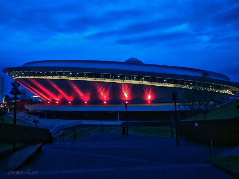 Spodekkatowice Night Biking Clouds And Sky Eyeemphotography Mobilephotography Xiaomi Redmi 1s Photo