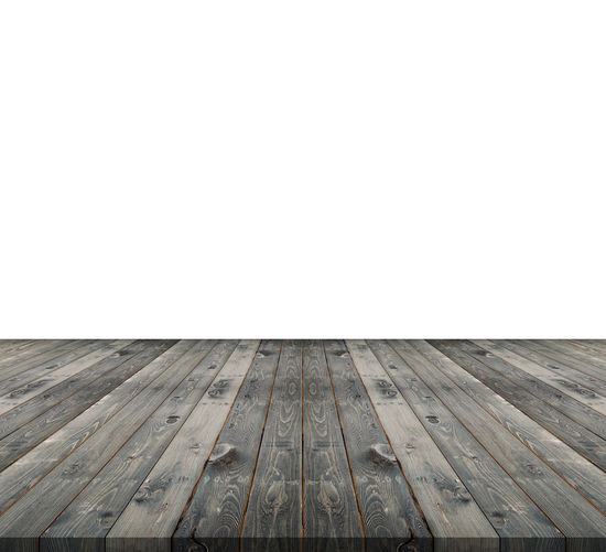 Wooden pier against clear sky