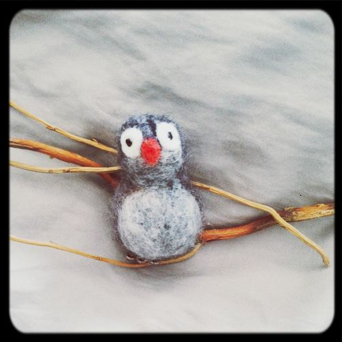 Baby felted owl Needlefelting Owl Art