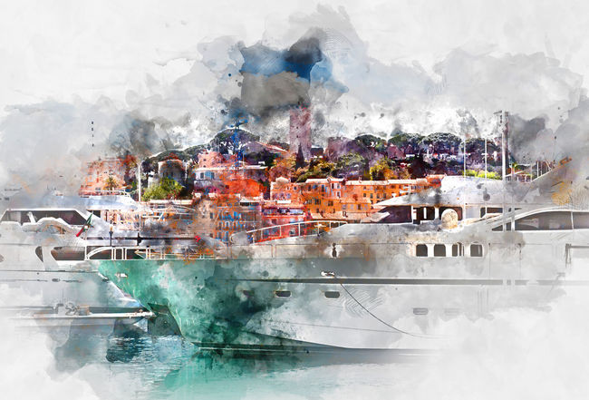 View of Le Suquet- the old town and Port Le Vieux of Cannes, France. Digital watercolor painting. Cannes Cannes, France Castle Digital Drawing Digital Paint France Harbor Le Suquet Marina Port Le Vieux Provence Alpes Cote D´Azur Watercolour Yachts Digital Art Digital Illustration Digital Painting Digitally Altered Digitally Generated Digitally Generated Image Illustration Nautical Vessel Outdoors Watercolor Watercolor Painting Watercolour Painting