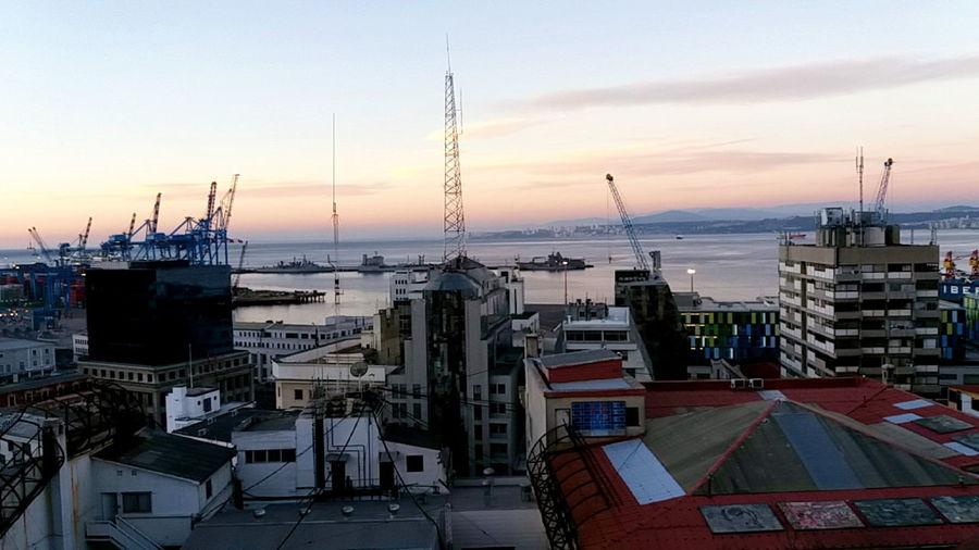 The port, buildings and the watercolor sky Valparaíso Valparaiso, Chile Port Coastal Life Coastal Cities Port View Southamericancities South America Buildings Buildings & Sky Built Structure Hidden Gems