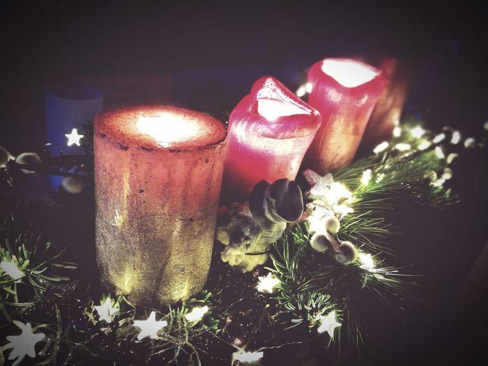 Christmas Lights Candle Indoors  Celebration Christmas Close-up No People Illuminated Night Christmas Decoration