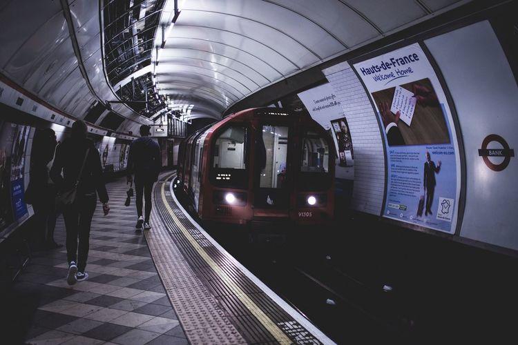 London Underground Underground Station  Train Street Urban People