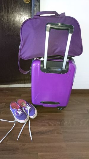 No People Close-up Indoors  XperiaZ5 Travel Purple Bags Bags Are Packed BagSnob Purple Color Purplelicious Purple Travel Ready To Go Packing My Suitcase Packed Packed Up Hitting The Roads Be. Ready.