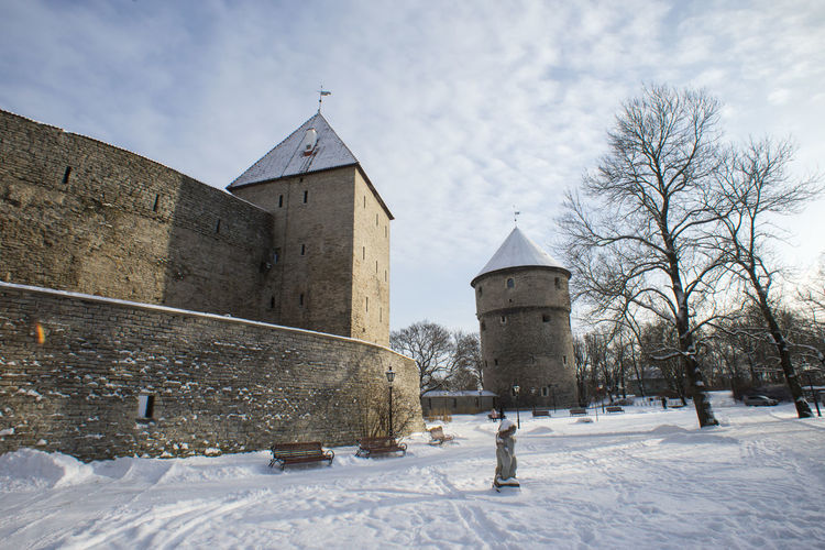 MedievalTown Old Town Travel In Winter Architecture Bare Tree Building Building Exterior Built Structure Cold Temperature Covering Day History Land Outdoors Sky Snow Town Wall Travel Destinations Tree Winter
