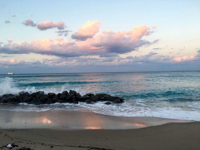 Palm Beach Palm Beach Ocean Ocean At Twilight Ocean Aqua Marine Water Palm Beach