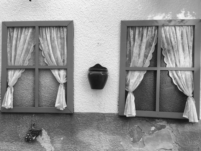 No People Tradition The Week on EyeEm Blackandwhite Alaçatı Windows_aroundtheworld EyeEm Selects Architecture Built Structure No People Window Wall - Building Feature Indoors  Day Side By Side Arrangement House Hanging