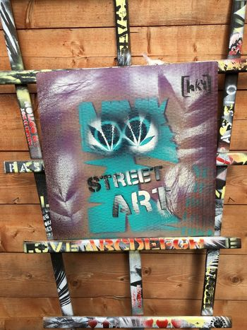 STREET ART design mural hemp Cannabis Letters Paint Spraying Stencil Wall Wall Art Wallart Wood Close-up Communication Construction Work Day Graffiti Graffiti Art Hemp No People Outdoors Painting Painting Art Spray Street Streetart Text Wood - Material