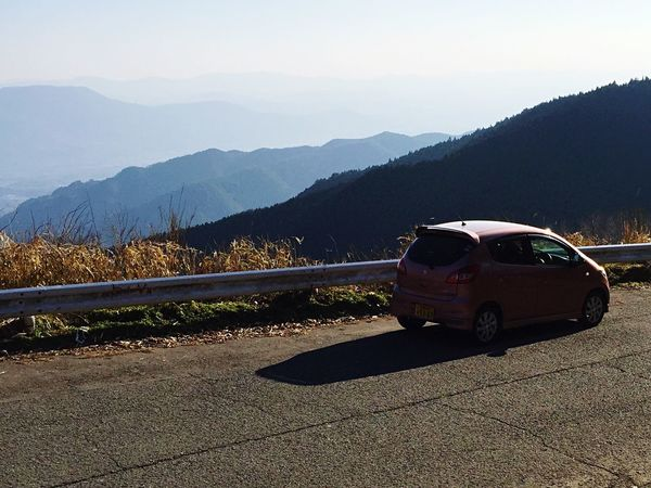 Japanese Car Suzuki My Car♥ Small Shadow Mountain Transportation Car Mode Of Transport Land Vehicle No People Nature Outdoors Beauty In Nature Scenics Landscape Day Sky