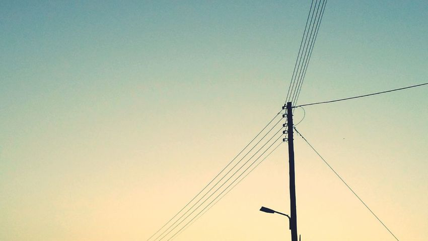 Minimalism The Graphic City Outdoors No People Electricity  Cable Low Angle View Day