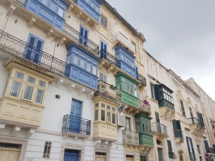 architectural feature Malta Mediterranean  Valetta Malta City Apartment Low Luxury Window Balcony Façade Residential Building Home Ownership Architecture Townhouse Historic Building Old Town