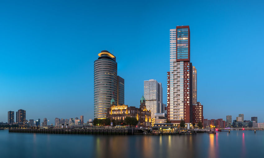 Architecture Blue Hour Cityscape High Resolution Netherlands Panorama Panoramashot Rotterdam Travel Travel Photography Architectural Feature Architecturelovers Blue Hour Cityscape Cityscape Photography Cityscapes Holland Hotel New York  Long Exposure Long Exposure Photography Travel Destinations