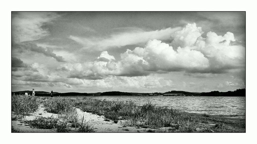 Lipno Black & White Clouds Landscape