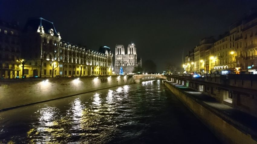 Seine and Notre Dame. Paris Paris ❤ France Seine Seine River River Notre Dame Notre Dame De Paris Urban Landscape Cityscape Architecture History Culture Hotspot Sightseeing Landmark Classic City Lights Night Lights Night Photography Politics And Government City Cityscape Water Illuminated Nightlife Urban Skyline Arts Culture And Entertainment Sky Architecture