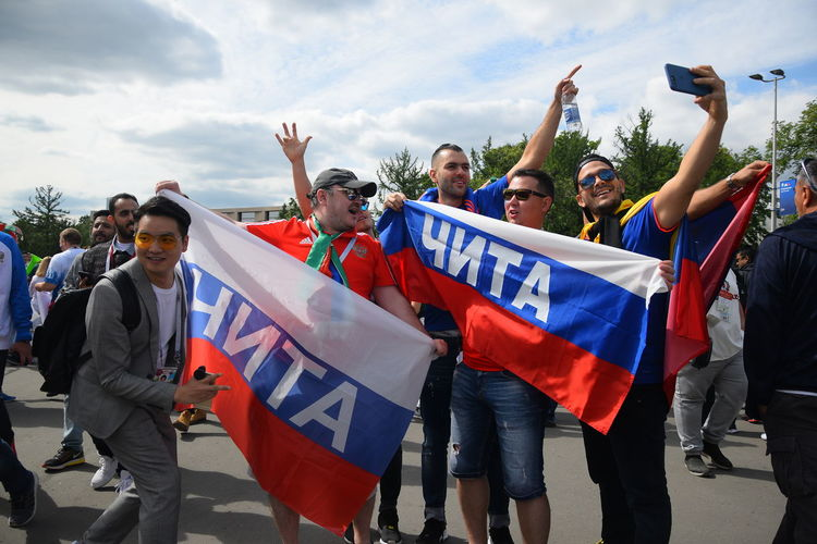 Contact me : roman@alyabev.com Fifa Football Moscow Adult Arms Raised Celebration Crowd Day Excitement Fan Fans Fifa18 Fifa2018 Flag Group Of People Happiness Holding Human Arm Men Outdoors Patriotism People Photography Themes Real People Standing Technology Togetherness Women