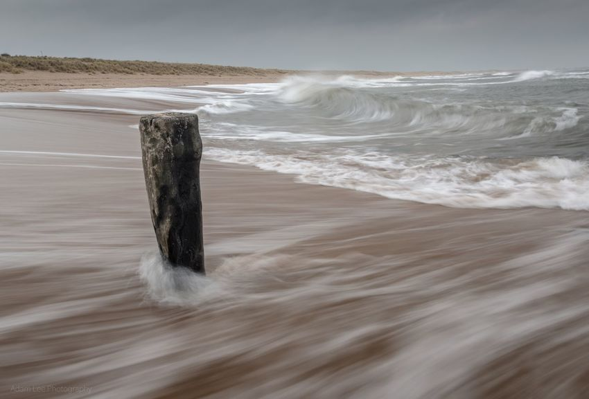 A Grey Northumberland Coast Northumberland Coastline Northumberland Wave Seascape Landscape Beach Sea Water Beach Nature No People Scenics Beauty In Nature Tranquility Outdoors Sand Wave Sky Motion Horizon Over Water