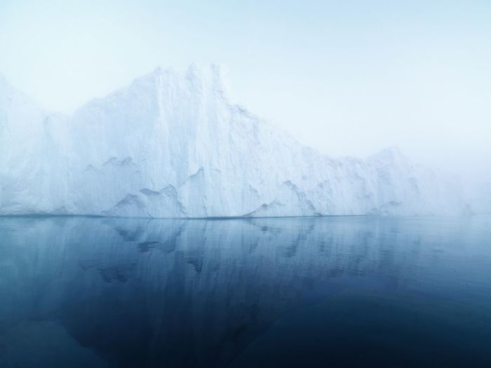 Iceberg in greenland Iceberg İn Arctic Ocean Cold Winter ❄⛄ Arctic Ocean Greenland Iceberg Cold Temperature Nature Beauty In Nature Ice Winter Tranquility Fog Mountain Weather Snow Landscape Day No People Shades Of Winter
