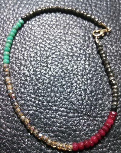 no filter...ruby*czech picasso*pyrite Handmade By Me Bohemian Empress RASTA