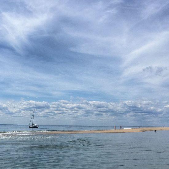 Enjoying Life Boats Clouds And Sky Beach Massachusetts