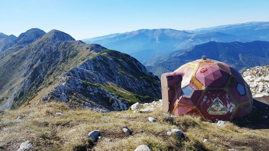 refuge Refuge EyeEm Selects Mountain Sky Mountain Range Hiker Rocky Mountains Rock Formation Photographer