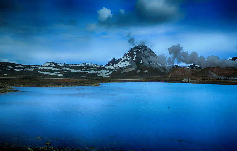 Iceland lake near Akureyri, Iceland Iceland Volcanoes Beauty In Nature Blue Blue Sky Cold Temperature Day Glacier Iceberg Lake Lake View Landscape Mountain Nature No People Outdoors Scenics Sky Snow Snowcapped Mountain Tranquil Scene Tranquility Water Winter