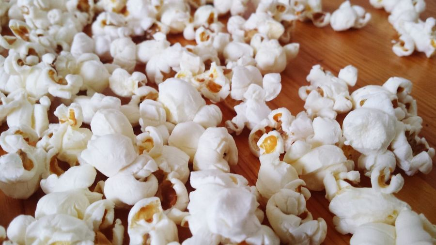 Full frame shot of popcorn
