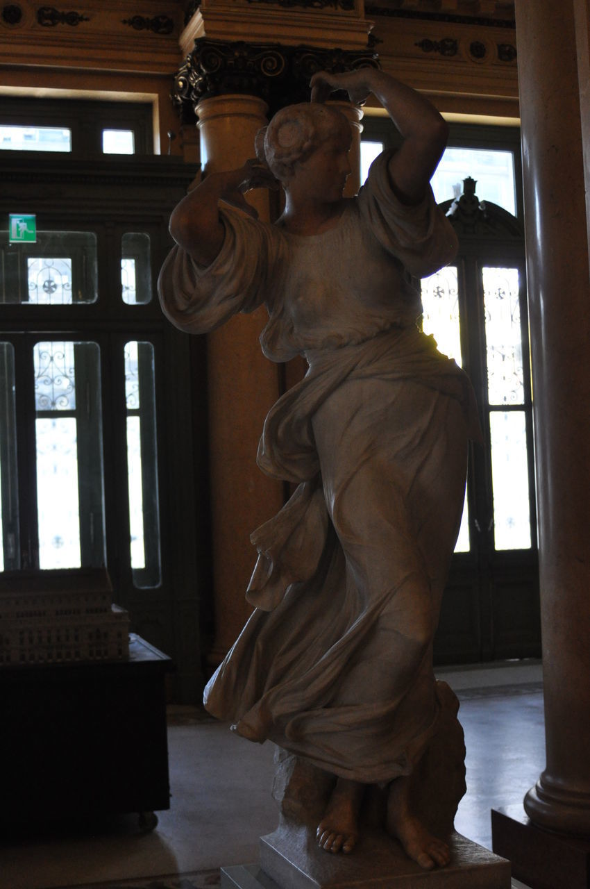 sculpture, statue, art and craft, human representation, representation, creativity, indoors, male likeness, window, no people, craft, architecture, day, female likeness, religion, full length, place of worship, building, spirituality, built structure, angel, fine art statue