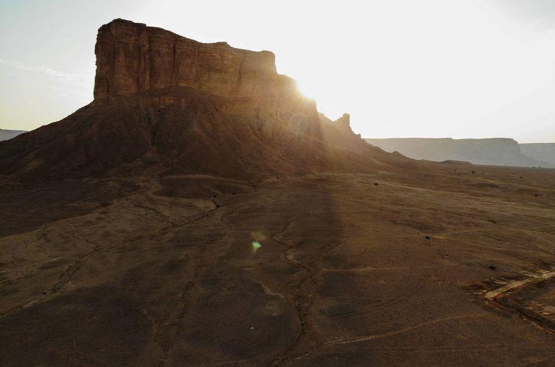Twaeeq mountain in saudi arabia - riyadh