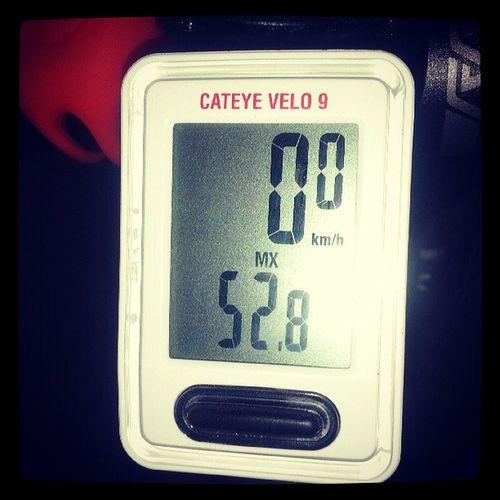 Olha os sprint's de hoje 52,8 km nas retas. Taficandobom
