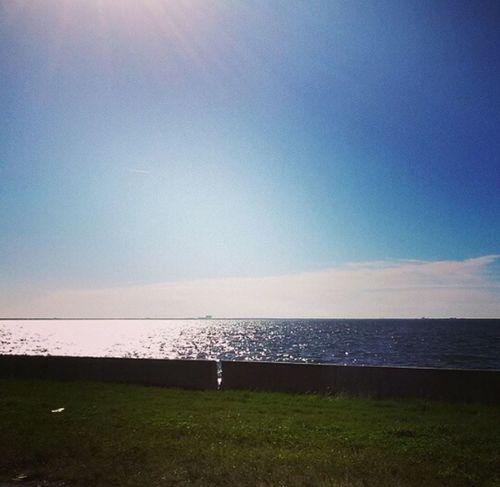 Beautiful Day Ocean View Blue Sky Water