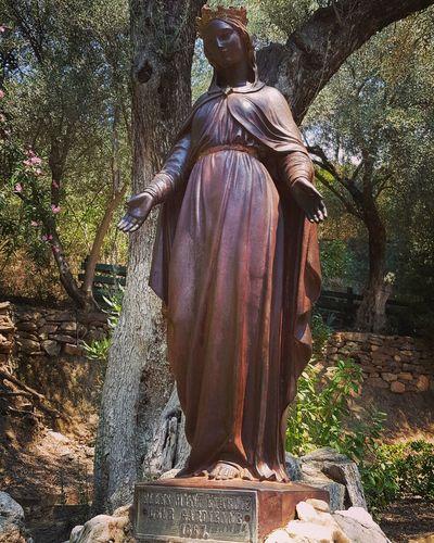 The Virgin Mary Virgin Mary House Of The Virgin Mary Izmir Selçuk Turkey EyeEm Selects Tree Statue Sculpture