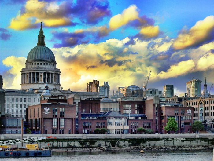 London In Colours St Paul's Cathedral Architecture Dome City Sky Cloud - Sky Cityscape Thames Skyline EyeEm Best Edits Edited My Way Colours Sky And Clouds Dramatic Sky My Year My View Adapted To The City The City Light EyeEm LOST IN London