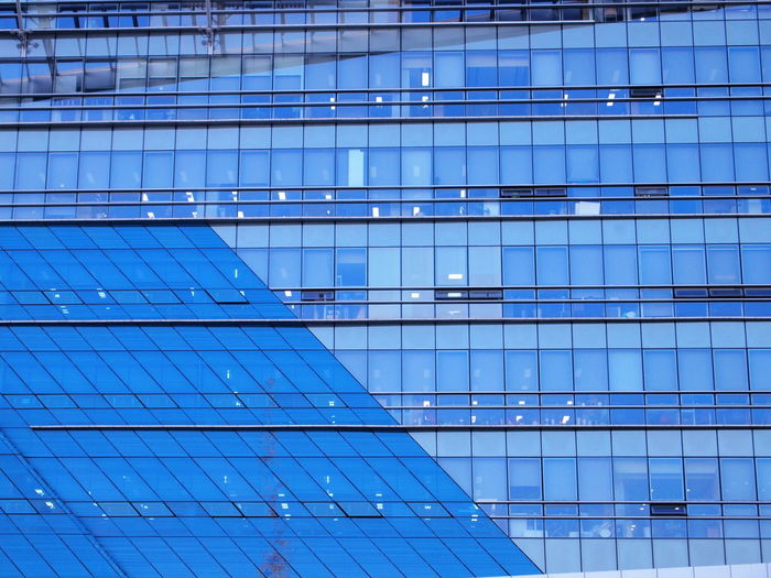 The Square Architecture Blue Blue Glasses Building Glass - Material Pattern Window