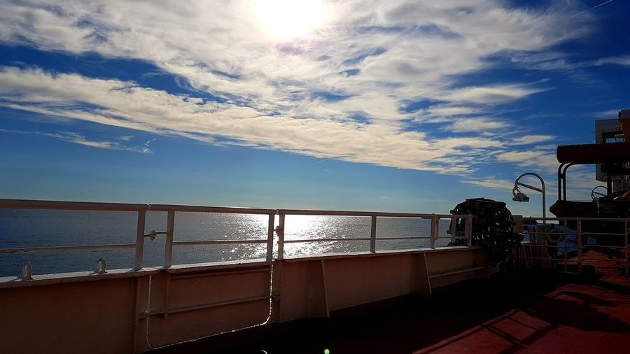 Light And Shadow On Board Ferryboat Vacations Tirrenic Sea Tuscany Shine Sun Sunlight Winter Holidays Water Sea Sky Horizon Over Water Cloud - Sky Scenics Calm Tranquil Scene Boat Coast Tranquility It's About The Journey