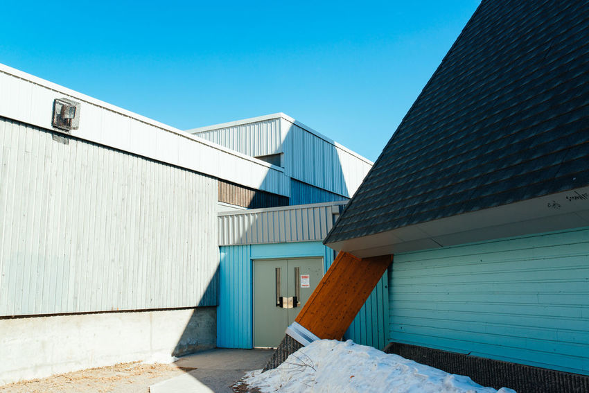 Architecture Blue Built Structure Day Minimal Outdoors Sky Yellowknife