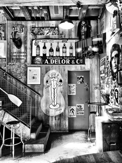 Underground-Bar No People Architecture Text Human Representation Built Structure Representation Graffiti Communication Creativity Indoors  Art And Craft Street Art Wall - Building Feature
