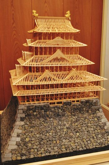 Nagoya Castle Wood Inside Castle Explaining  Wood - Material Historic