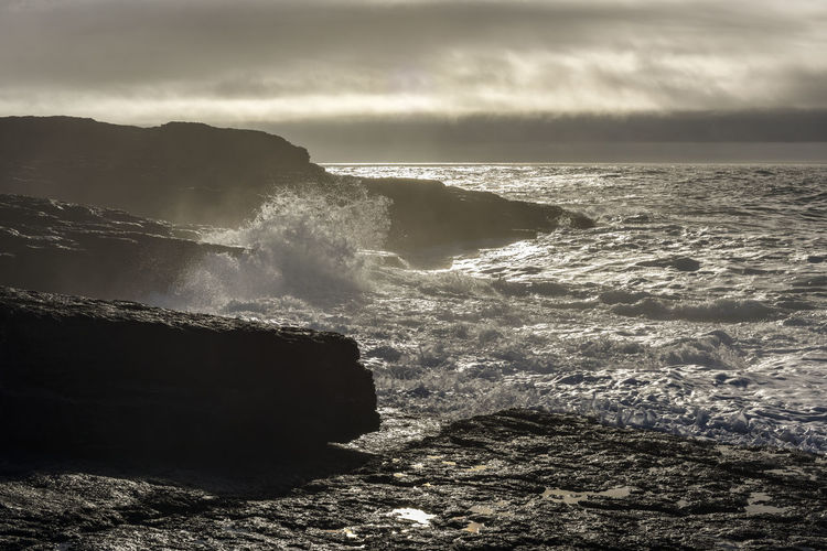 Stormy sea with